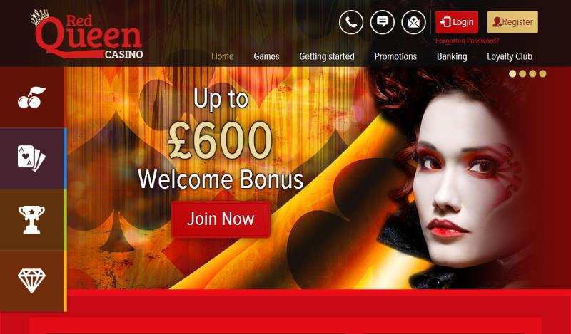 red queen casino homepage