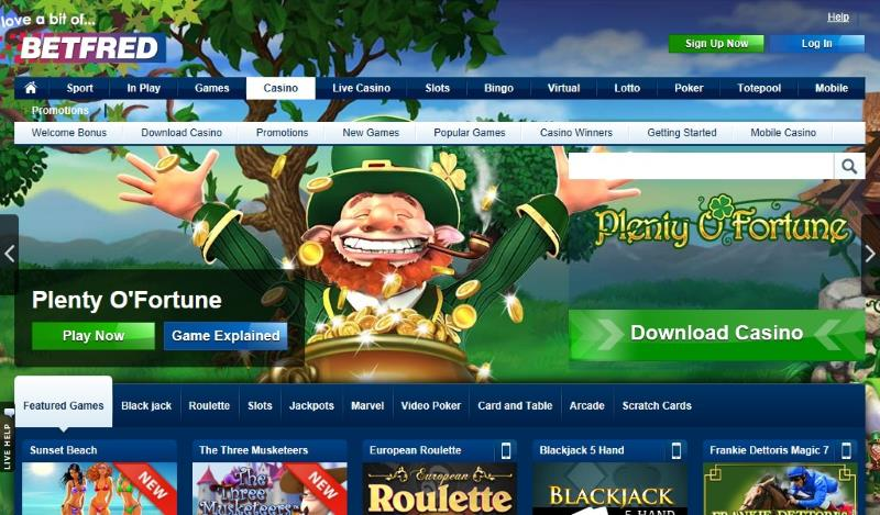 betfred casino homepage