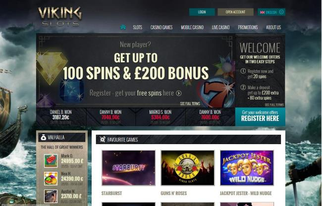 viking slots homepage
