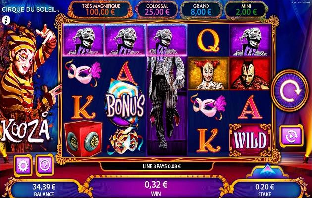 kooza video slot